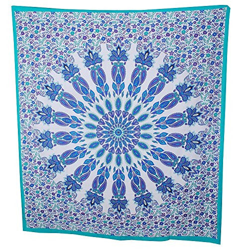 Mandala tapestry,indian bohemian wall hanging ,Large tapestries beach Throw , Bonus Boho Earrings-Americana Decor's