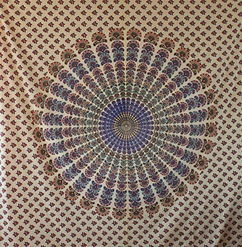Handicrunch Mandala Hippie, Tapestries, Wall Hanging, Indian Art Tapestry, Home Decor Wall Hanging, Table Cloth Home Décor Bed Spread