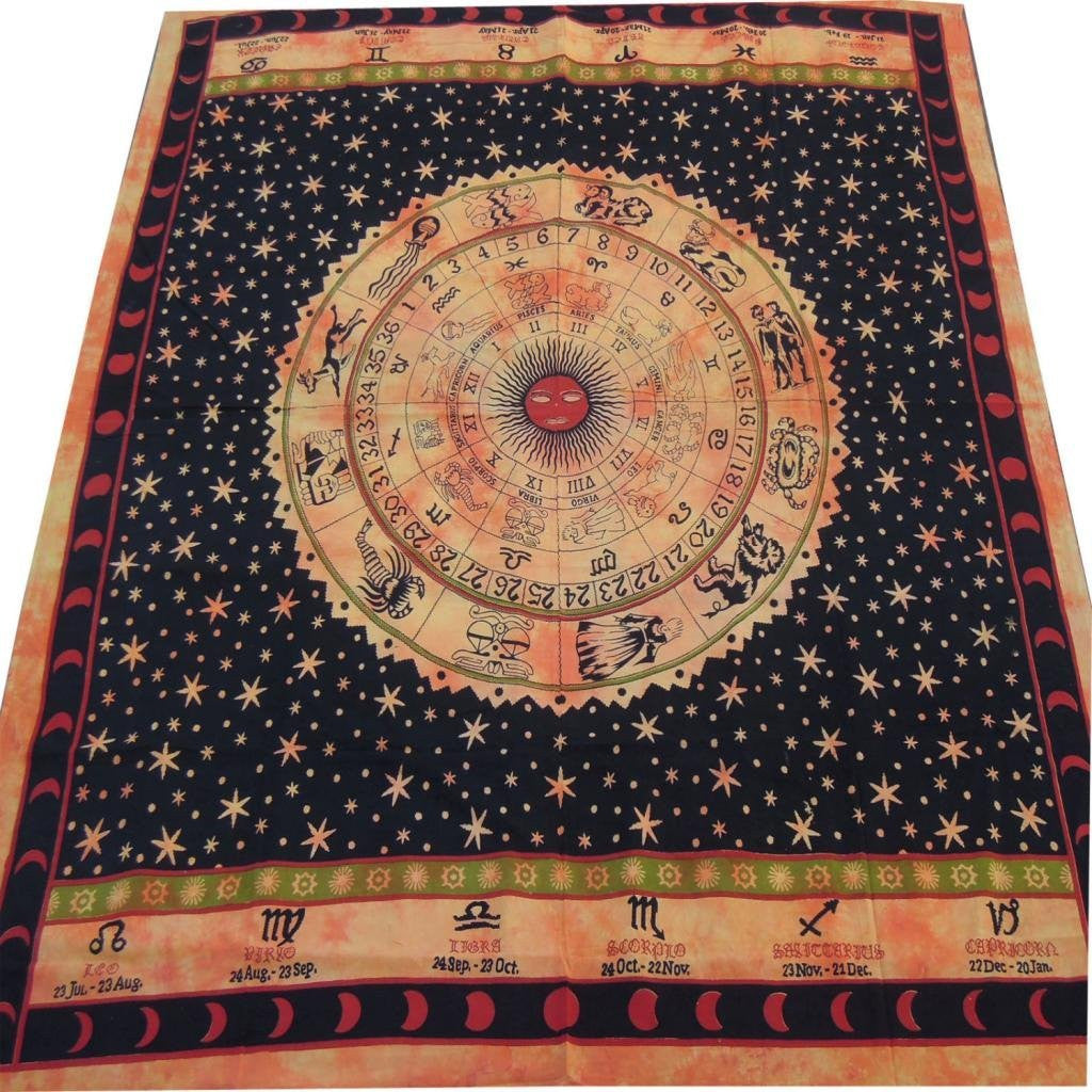 Hippy Mandala Bohemian Tapestries, Indian Dorm Decor, Psychedelic Tapestry Wall Hanging Ethnic Decorative