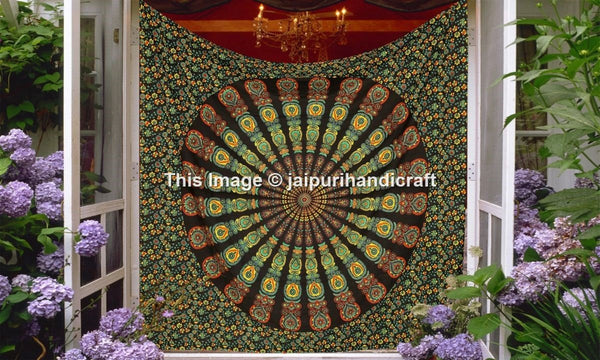 Psychedelic Indian Mandala tapestry, Hippie Hippie Mandala tapestries, Indian Wall Hanging, Tapestries