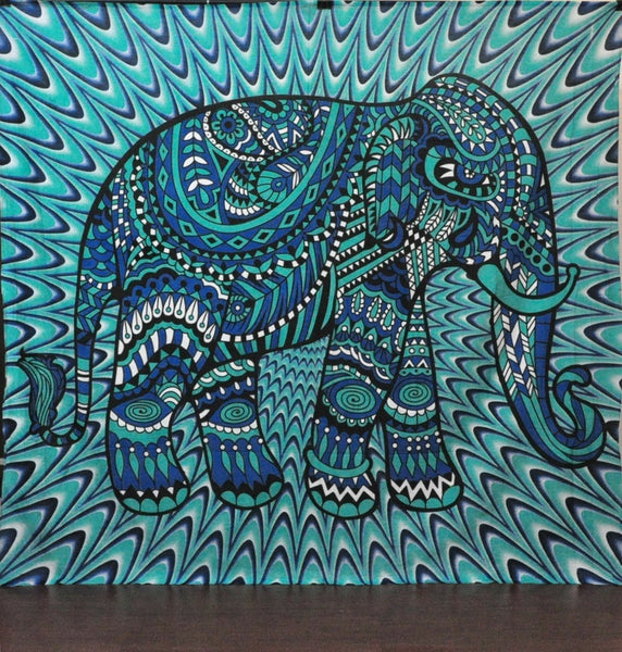 Tredyystuff JaipurHandloom Christmas Gift Hippy Tapestries Elephant Mandala Hippie Tapestry Indian Traditional Throw Beach Throw Wall Art College Dorm Bohemian Wall Hanging Boho