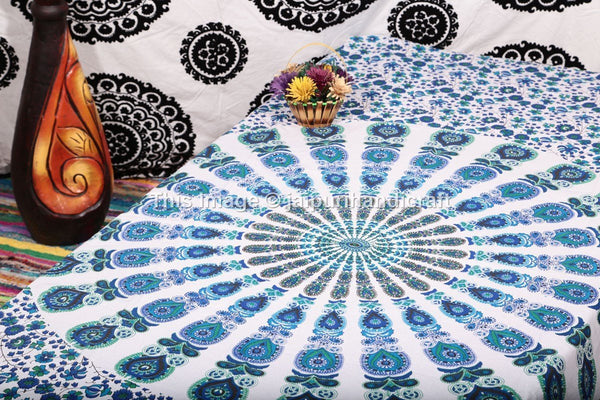Handicrunch Mandala Tapestry, Indian Mandala Wall Hanging, Indian Tapestry, Bohemian Wall Hanging, Twin Mandala