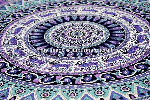 Roll over image to zoom in      Hippie Elephant Tapestries, Mandala Tapestries, Large Tapestries, Bohemian Tapestries, Queen Bedspread