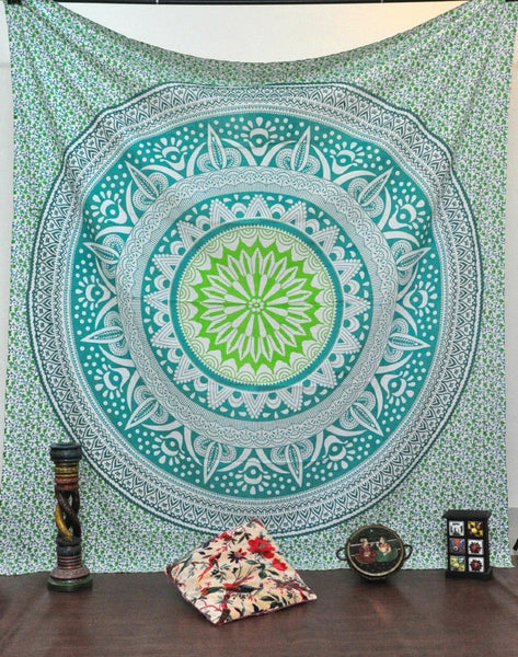 Trendyystuff Jaipurhandloom Christmas Gift Indian Mandala Tapestry Indian Hippie Hippy Wall Hanging Bohemian Queen Wall Hanging Bedspread Beach Tapestry