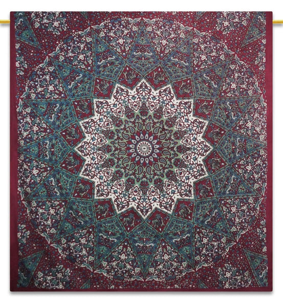 Mandala Indian Tapestry Picnic Blanket Hippie Bohemian Full Size Tapestries 92X82 Inches