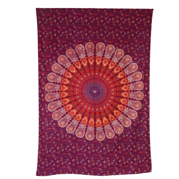 Trendyystuff Indian Psychedelic Mandala Hippie Tapestry Wall Hanging Bohemian Bedspread Ethnic Dorm Décor, 82 X 55 (Approx)