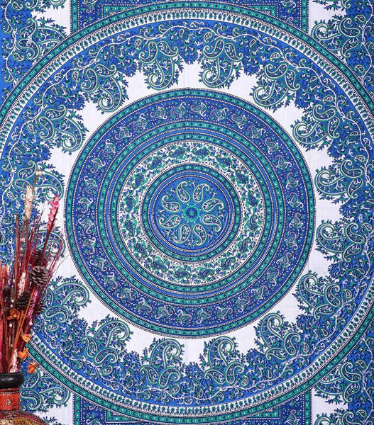 Handicrunch Tapestry Tapestries , Mandala Hippie Hippy Wall Hanging , Indian Tapestries, Mandala Tapestries, , Dorm Tapestry , Tapestry Wall Hanging
