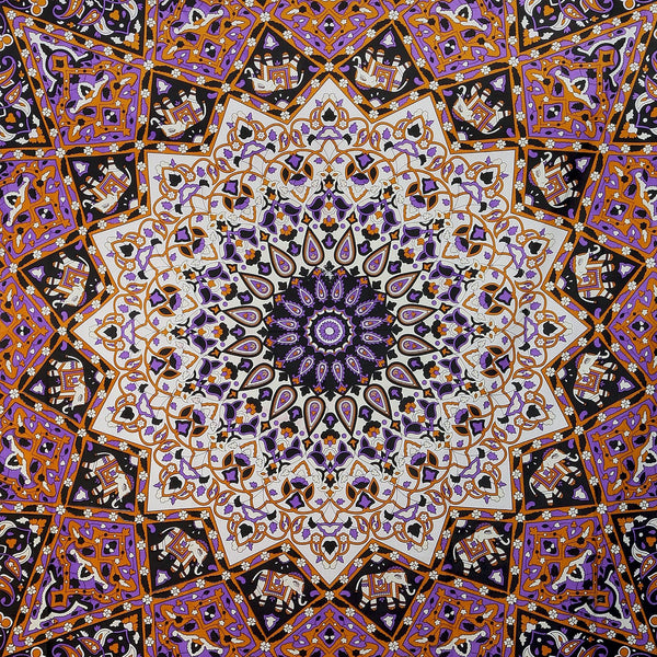 Trendyystuff Sunshine Joy Glow In The Dark India Star Mandala Tapestry