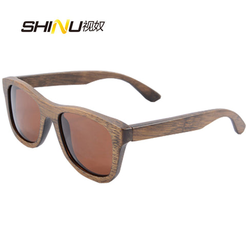 2015 Bamboo Sunglasses Men Wooden Sunglasses Women Brand Designer polaroid Original Wood Sun Glasses Oculos de sol masculino6016