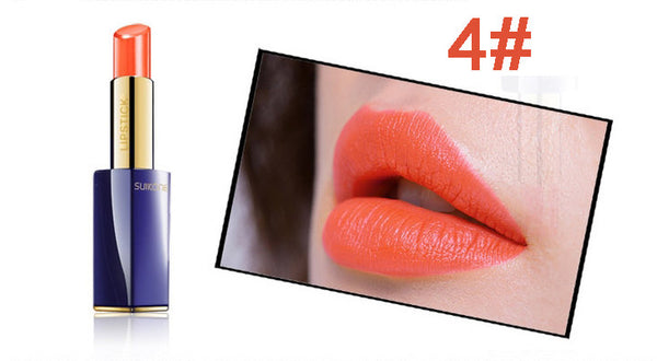 2016 New Arrival Brand SUIKONE Lipsticks Makeup Waterproof 10 Colors Lip Stick Lip Make up Cosmetics Long-lasting Matte Lipstick
