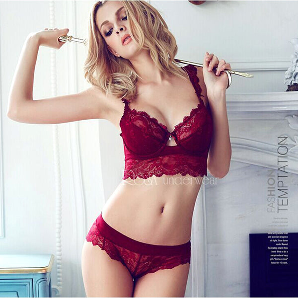 Hot sale 2016 summer sexy lace bra brief sets loita bra set girl ultra-thin push up bra for women underwear bra and panty sets