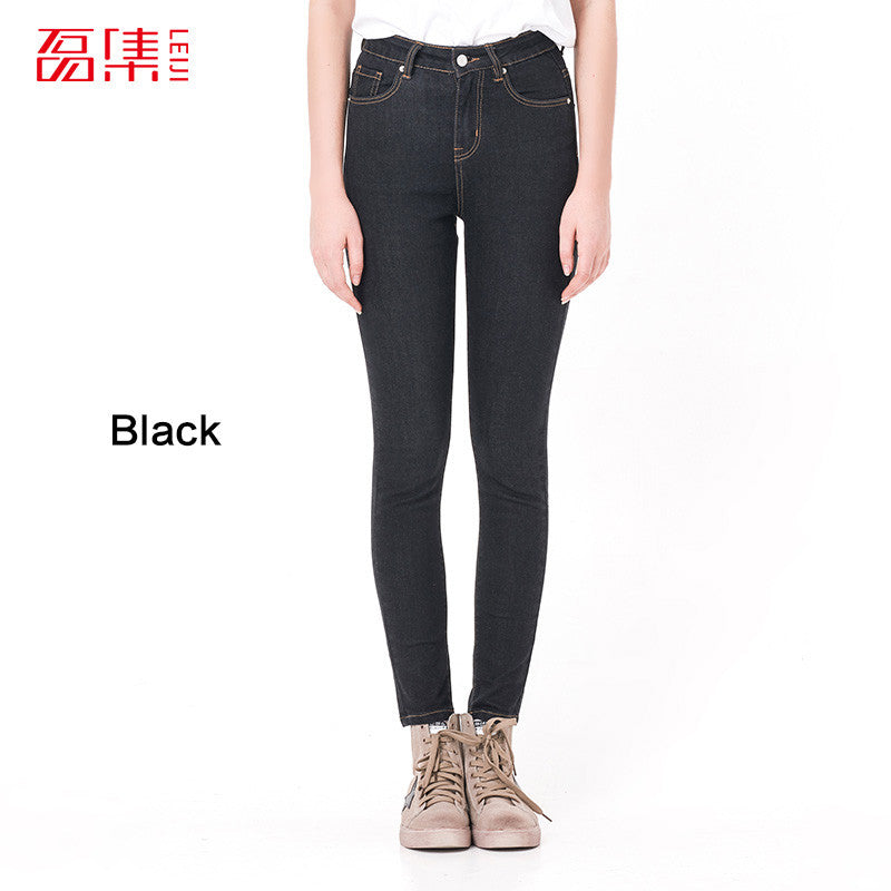 High Waist Mid Elastic Women Jeans