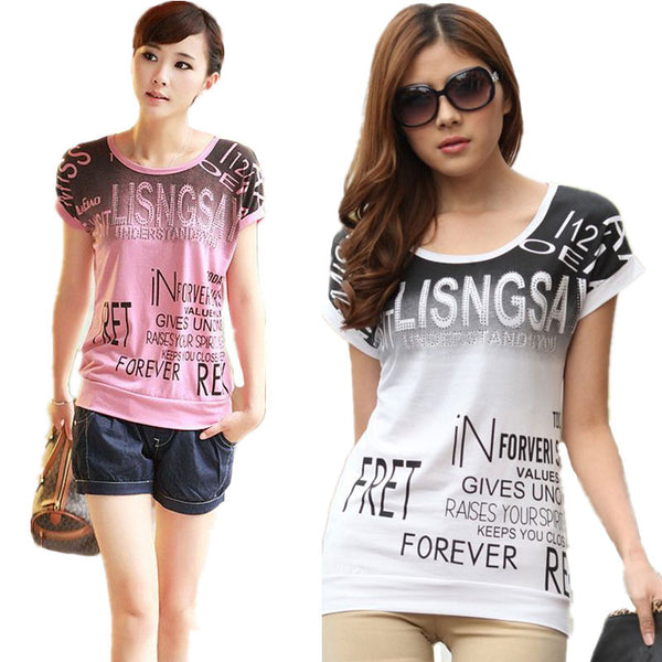Plus size women print T shirt camisas femininas European basic 2016 summer style short sleeve O-Neck Shirts Loose casual tops