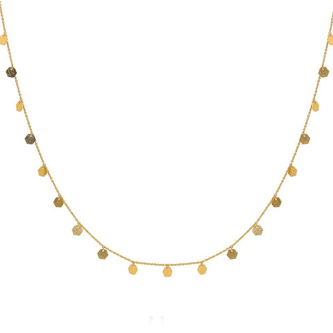 Geometric Charm Layering Necklace