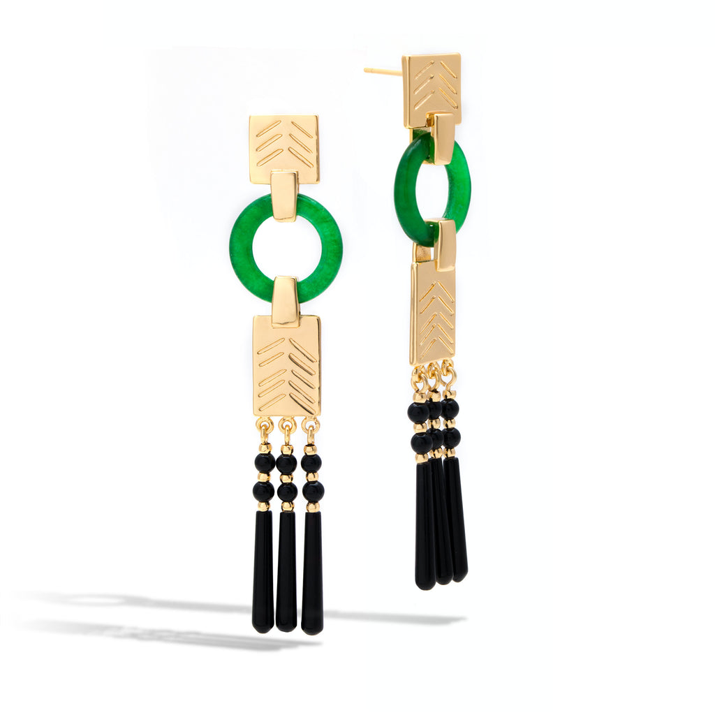 Empress Jade Drop Earrings
