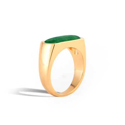 Royal Jade Signet Ring