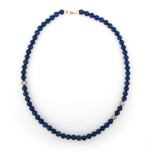 Lapis Peacock Animali Necklace