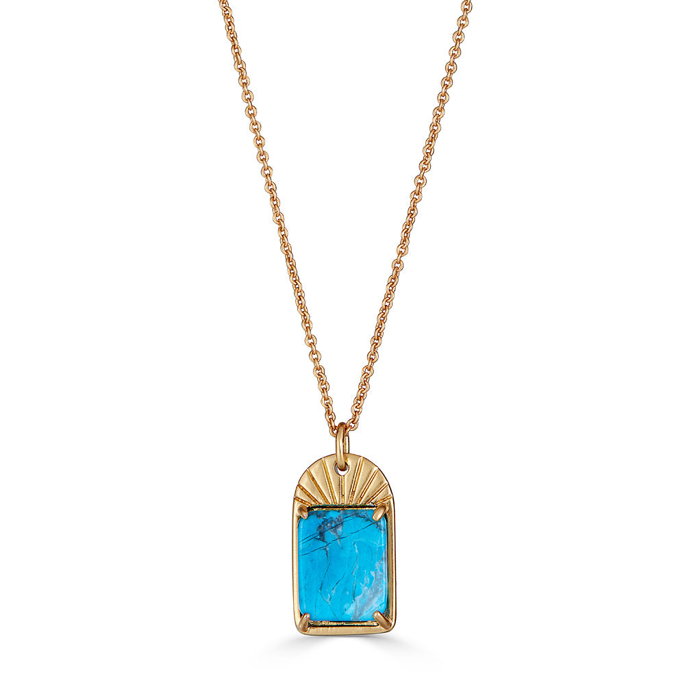 Turquoise Sunray Necklace