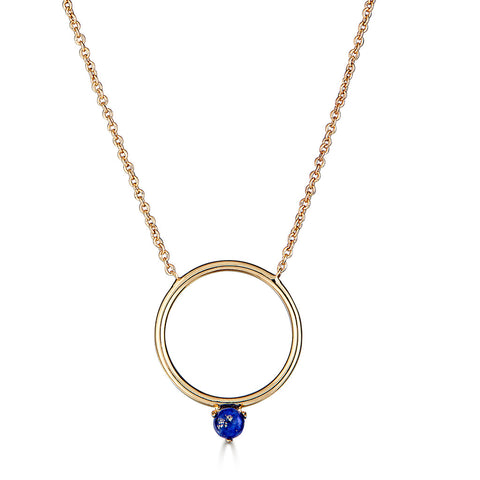 Lapis Circle Necklace