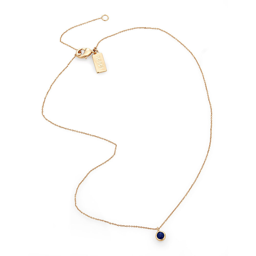 Lapis Dot Necklace