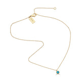 Turquoise Dot Necklace
