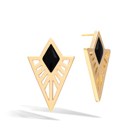 Onyx Sunray Earrings