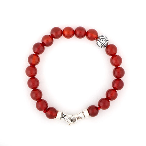 Red Onyx Tiger Animali Bracelet