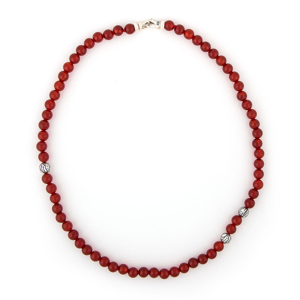 Red Onyx Tiger Animali Necklace