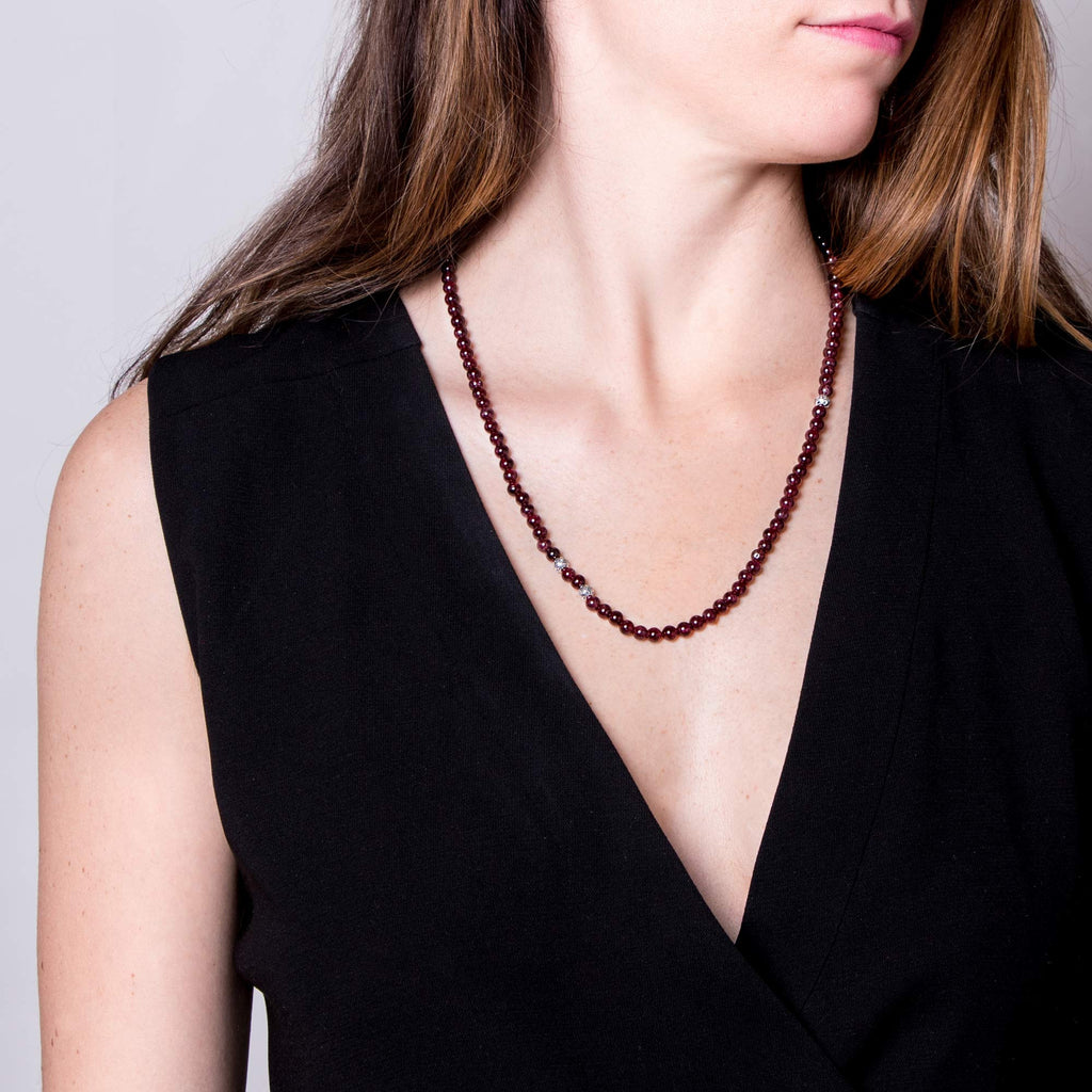 Garnet Leopard Animali Necklace