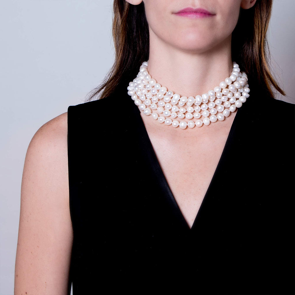 Opera-Length Baroque Pearl Necklace