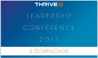 2017 Thrive Leadership Conference Five Downloads of Your Choice