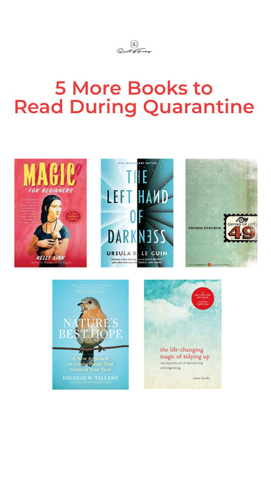 5 More Books to Read During Quarantine