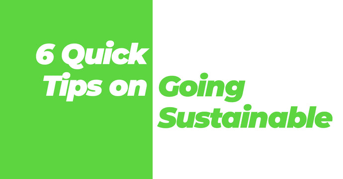6 Quick Tips on Going Sustainable