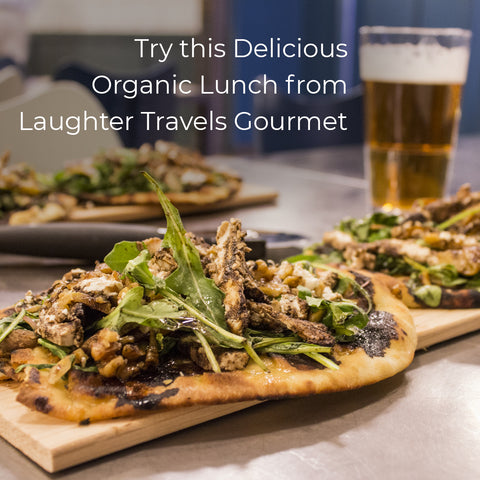 Try this Delicious Organic Lunch from LAUGHTER TRAVEL GOURMET