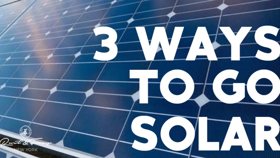 3 Ways to go Solar