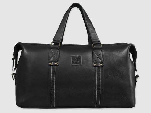 Ardent - Black Leather Duffel - Bag - Rust & Fray