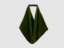 Load image into Gallery viewer, Boho - Forest Green Velvet - Bag - Rust & Fray