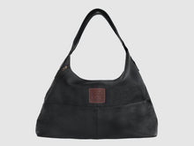 Load image into Gallery viewer, Vogue - Black Vegan Leather Hobo - Bag - Rust & Fray