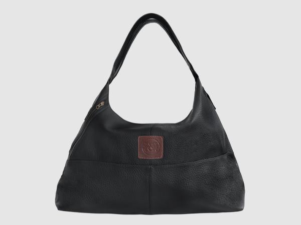 Vogue - Black Vegan Leather Hobo - Bag - Rust & Fray