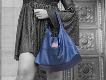 Load image into Gallery viewer, Vogue - Midnight Vegan Leather Hobo