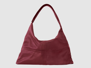 Vogue - Red Vegan Leather Hobo