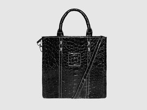 Michelle - Alligator Vegan Leather - Bag - Rust & Fray