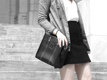 Load image into Gallery viewer, Michelle - Black Vegan Leather - Bag - Rust & Fray