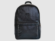 Load image into Gallery viewer, Encore - Black Leather Backpack - Bag - Rust & Fray