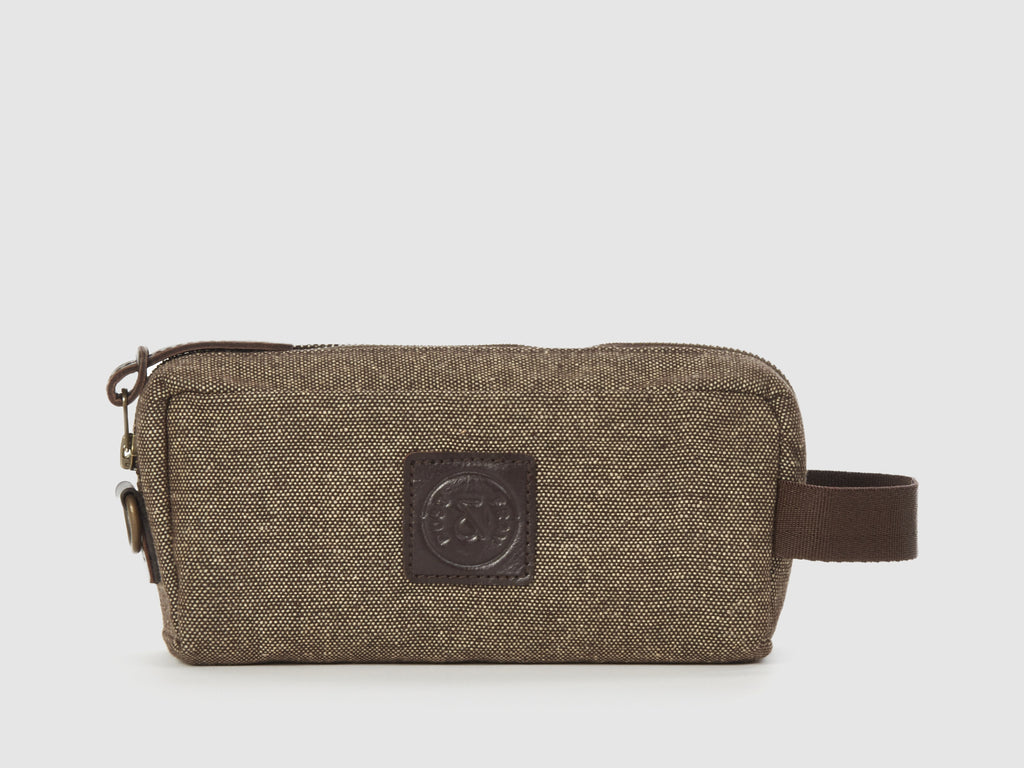 Venus - Brown Tweed Travel Kit - Bag - Rust & Fray