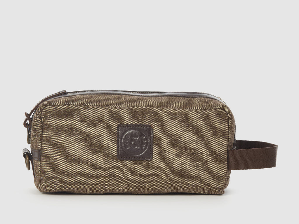 Adonis - Brown Tweed Travel Kit - Bag - Rust & Fray