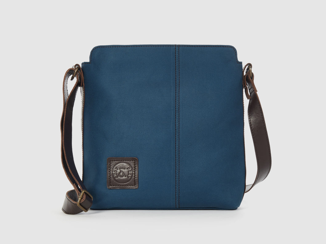 Latitude - Azure Gabardine Messenger Bag - Bag - Rust & Fray
