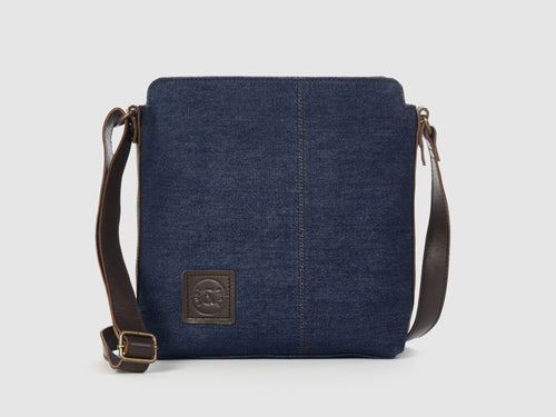 Latitude - Blue Denim Messenger Bag - Bag - Rust & Fray