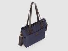 Load image into Gallery viewer, Urbanite BG - Blue Gabardine Crossbody - Bag - Rust & Fray