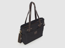 Load image into Gallery viewer, Urbanite KG - Black Gabardine Crossbody - Bag - Rust & Fray
